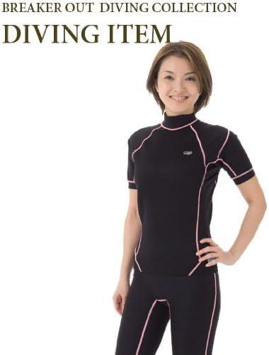SURF GRIP HC CSP エアースキン 半袖/ブラック×ピンクステッチ S