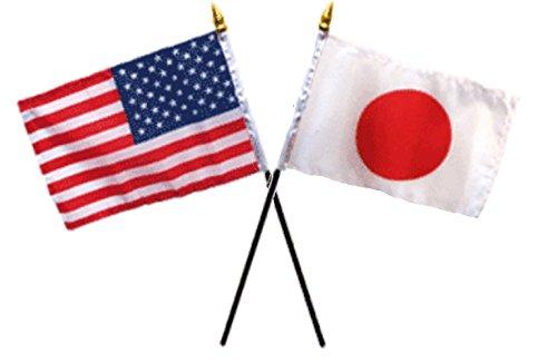 USA American & Japan Japanese Flags 4