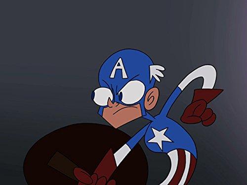 with Captain America DVD's design