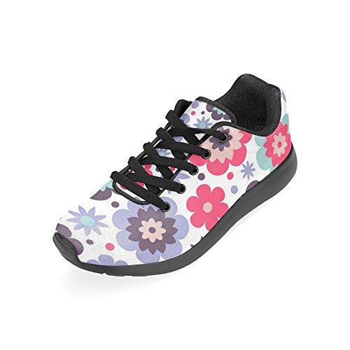 Interestprint Womens Väg Löparskor Jogging Lätta Sport Gå Atletiska Sneakers Paisley Blommor