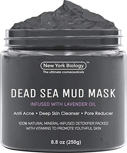 Dead Sea Mud Mask Infused With Lavender - 100% Natural Spa Quality - Best Pore Reducer & Minimizer to Help Treat Acne, Blackheads & Oily Skin - Tightens Skin for a Healthier Complexion - 9 OZ