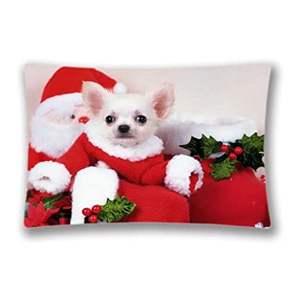 Cute Christmas Puppies.Amazon Com John Whitley Cute Christmas Puppies 10625 Pillow