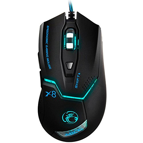 Creazy® 3000 DPI LED Optical 6D USB Wired Gaming Game Mouse For PC Laptop Game