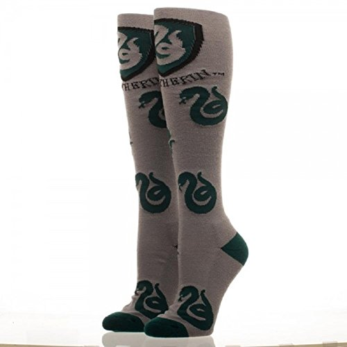 Harry Potter Slytherin Logo Grey Knee High Socks Film Merchandise