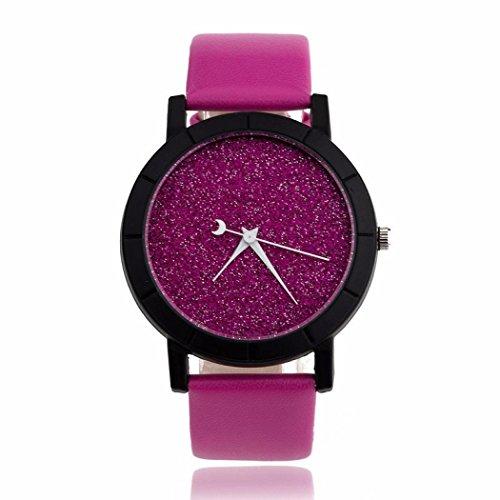 LLguz Couple Unique Romantic Starry Fashion Casual Quartz Leather Watches (Hot (Romantic Boxed Leather)