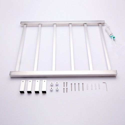Amazon.com: Lightinthebox 60W Wall Mounted Stainless Steel Polished Square Tube 6-Bar Radiant Hardwired Straight Towel Warmmer Drying Rack Lavatory Home ...