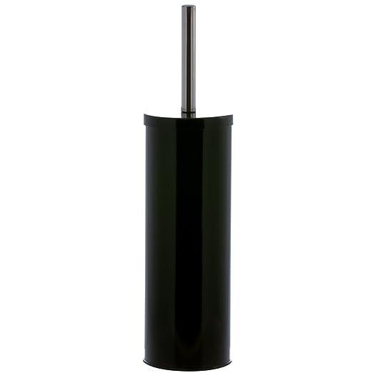 Misure: /Ø 9 x h Galileo Casa portascopino WC Bianco Satinato con Decoro Metallo 26,5 cm