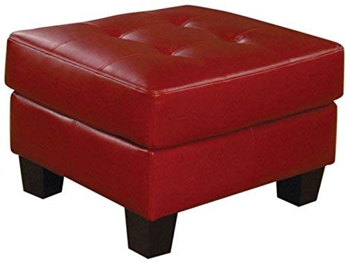 Coaster Home Furnishings Samuel Tufted Ottoman Red