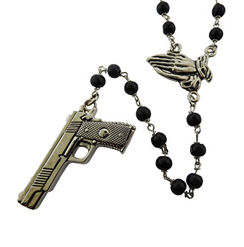 (Rock Rebel Gun Praying Hands Rosary Original Logo Metal Gothic Tattoo Tribal)