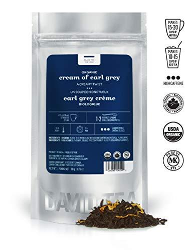 DAVIDsTEA Organic Cream of Earl Grey Loose Leaf Tea, Premium Black Tea with Bergamot and Vanilla, 2 oz