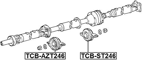 Toyota 37230-39035 Drive Shaft Center Support Bearing