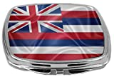 Rikki Knight Flag Design Compact Mirror, Hawaii State, 3 Ounce