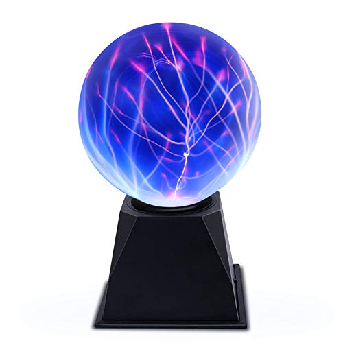 8 Inch Magic Plasma Ball, Touch & Sound Sensitive Plasma Light,Thunder Nebula Globe for Parties/Decorations/Kids/Christmas Gifts/Bedroom