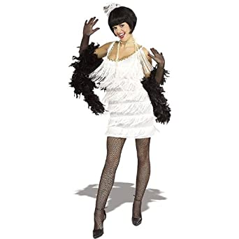 Amazon.com: White Flapper Costume: Clothing