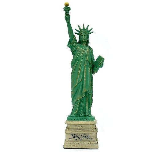 City-Souvenirs Statue of Liberty Statue Home Decor 15 Inch Resin Heritage Replica Statues ()