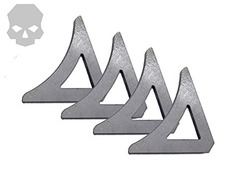 """Price comparison product image (4 pack) Cage Gusset 90 degree,  3 / 16"""" mild steel"""