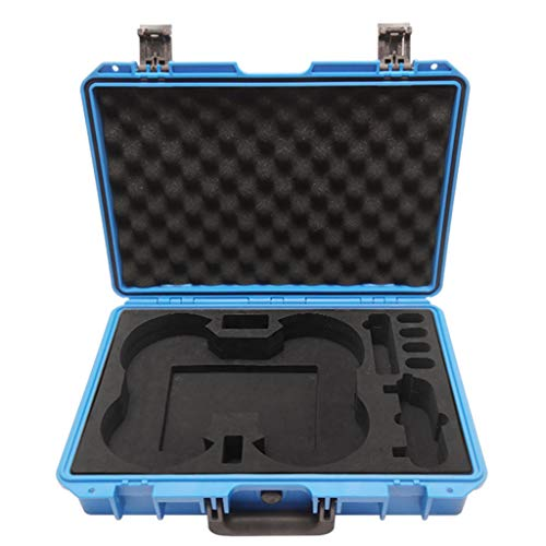 Heavy Military Spec Waterproof Compact Travel No-disassembly Large Storage Hard Carry Case Box for DJI Mavic Mini RC Drone (Blue)