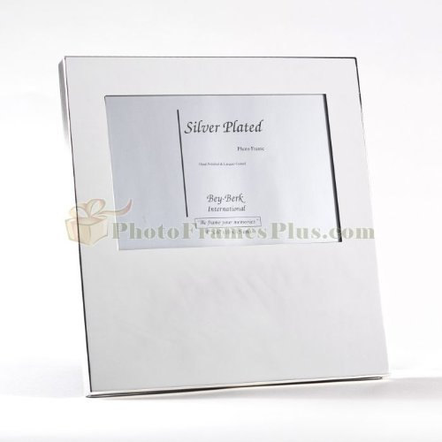 International Silver Plated - Bey-Berk International Silver Plated 4x6 Frame, Grey