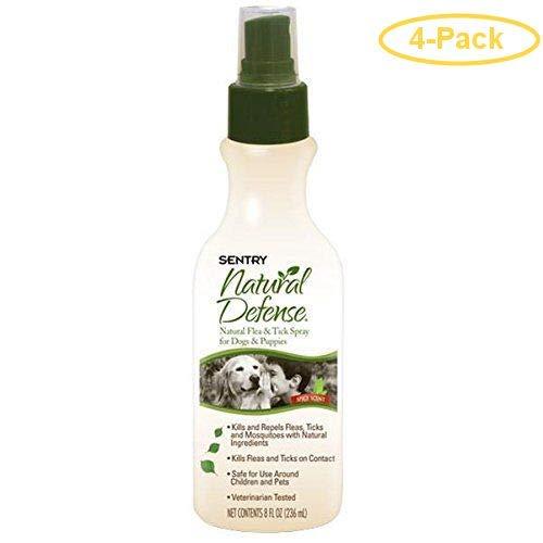 Sentry Natural Defense Flea & Tick Spray 8 oz - Pack of 4 by Sentry Industries Inc.