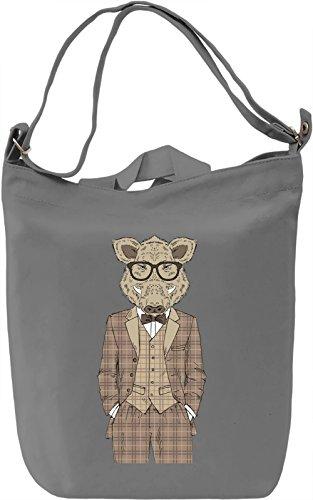 Fancy boar Borsa Giornaliera Canvas Canvas Day Bag| 100% Premium Cotton Canvas| DTG Printing|
