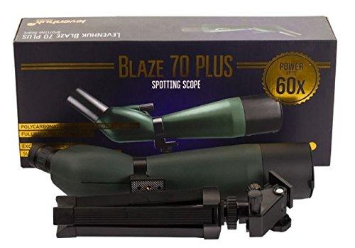 Levenhuk Blaze 70 PLUS Spotting Scope fully coated optics 20-60x waterproof with tripod and case