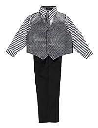 "Andrew Fezza Little Boys' Toddler ""Salt & Pepper Square"" 4-Piece Vest Set"