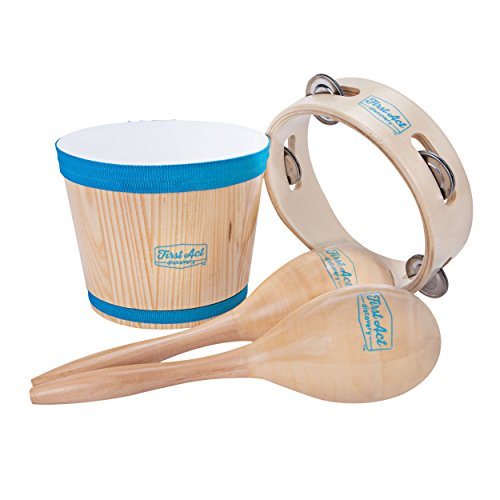 - First Act Discovery Percussion Pack, Bongo, Maracas, Tambourine FAD0141