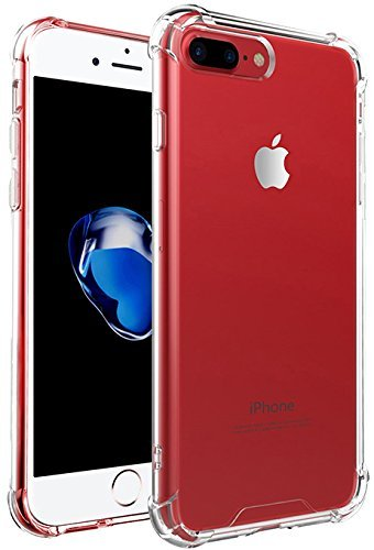 iPhone 7 Plus Case, iPhone 8 Plus Case, Gruichi Crystal Clear Case, Shock Absorption Technology TPU Bumper Hard Back Cover Case for Apple iPhone 7 Plus / iPhone 8 Plus -