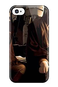 AnnaSanders Scratch-free Phone Case For Iphone 4/4s- Retail Packaging - Star Wars Revenge Of The Sith George Lucas Force Jedi Yoda Darth Vader People Movie wangjiang maoyi