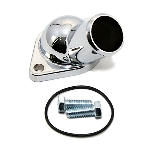 Chevy C10 Chrome Housing (Assault Racing Products A9228 Chevy V8 45 degree Chrome Water Neck Thermostat Housing Small Big Block 350 454)