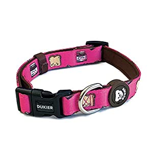 Dukier – Collar para Perro Ajustable y cómodo con Estampados Originales