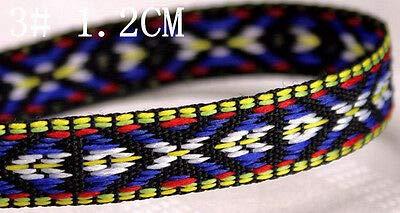 FidgetKute 5/10 Yard Jacquard Ribbon Braid Trim Embroidery Flower Necklace Handcraft U Pick #3 10Yard