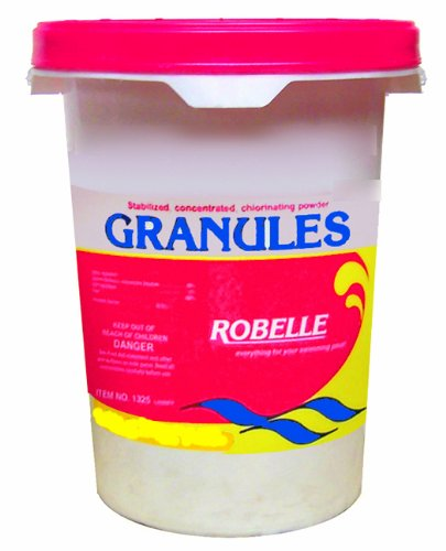 Robelle 1350 Stabilized Concentrated Chlorinating Powder Granules, 50 lb