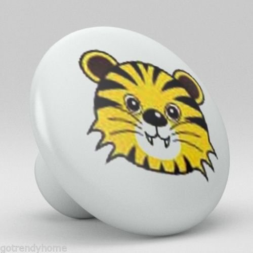 Cute Animal Tiger Ceramic Knobs Pull Kitchen Bathroom Closet Drawer Cabinet 139 - Lsu Tigers Ceramic