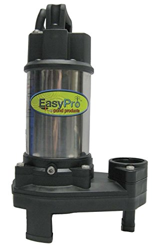 EasyPro+ TH250 Waterfall Pond Pump 4100 GPH with FREE BONUS THERMOMETER, Stainless Steel Design
