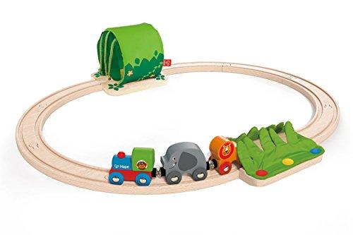 Hape Wooden Railway Jungle Train Journey - Train Jungle Set