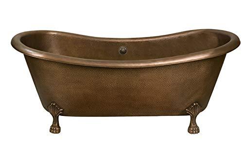 Barclay COTDSN68-AC-AC Grant Double Slipper Tub Copper Tub Claw ()