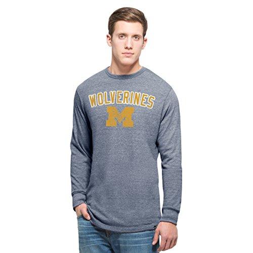 NCAA Michigan Wolverines Men's 47 Team Tri-State Long Sleeve Tee, Medium, Nightfall