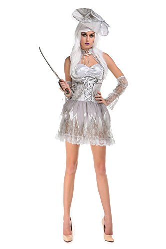 [NonEcho Halloween Outfits for Women Ghost Pirate Costume] (Sexy Swashbuckler Adult Womens Plus Size Costumes)