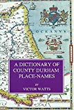 A Dictionary of County Durham Place-names (Popular) by Victor Watts front cover