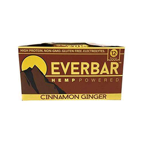 Ever Bar, Hemp Powered Cinnamon Ginger Box, 2.1 Ounce, 16 Count ()