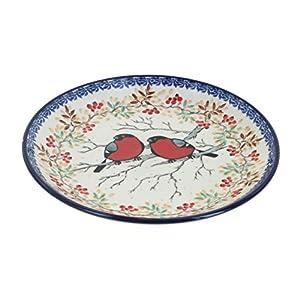 Blue Rose Polish Pottery Meadowlark Dessert Plate