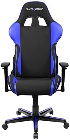 DXRacer OH FH11 NI Black Indigo Formula Series Gaming Chair High-back Ergonomic Home Office Adjustable Swivel Racing eSports Computer Chair with Lumbar Cushion and Headrest Pillow