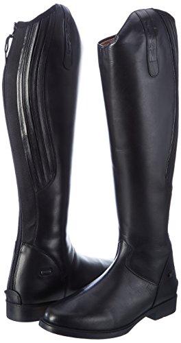 Ladies 40 Riding Black Horse HKM Boots Rimini Width Standard Length dnHq1W6