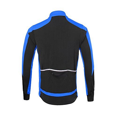 In A Blu Per Giacca Lunghe Mountain Bike Antivento Nero Jersey Calda Maniche Ciclismo Lixada fHqwZ