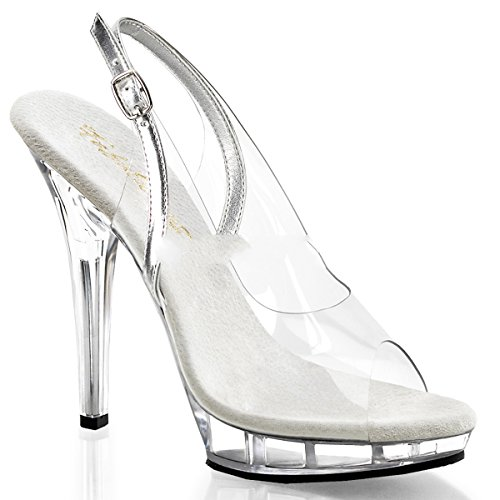 Fabulicious - Sandalias de vestir para mujer Transparent