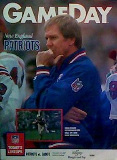 The New England Patriots Versus The New Orleans Saints Official Gameday Program: November 12, 1989 (New Orleans Saints Versus New England Patriots)