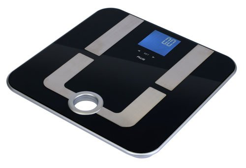 American Weigh Scales MPR-180 Mercury Pro Body Fat And Composition Bathroom Scale with Carrying Handle for Easy Storage and 396-Pound Capacity