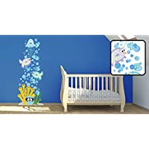 Sea Creatures Growth Chart Removable Wall Decal