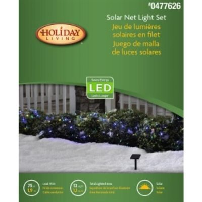 Multi Colored Solar Net Lights